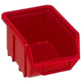 Plastový ukládací zásobník ECOBOX 111 červený