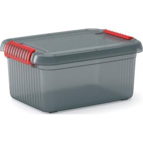 Úložný plastový box KIS K LATCH BOX S šedý 14 l