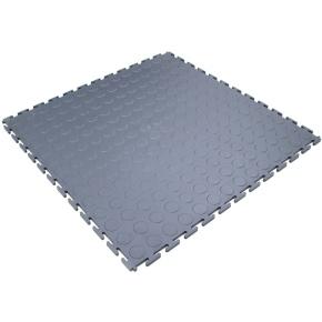 Průmyslová PVC dlaždicová podlahovina COBA Tough Lock šedá 0,5 x 0,5m x 7 mm