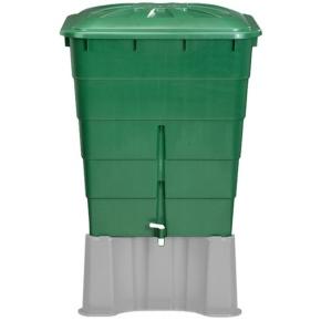 Plastová nádrž na dešťovou vodu RHIN 300 l zelená
