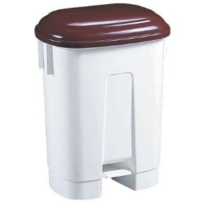 Odpadkový koš plastový Sirius 60l hnědé víko