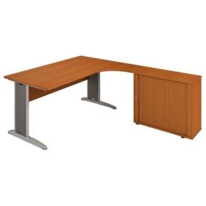 Kancelářský pracovní stůl Cross sestava levá - CE 1800 HR L buk