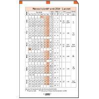 ADK Plánovací kalendář A7 2018