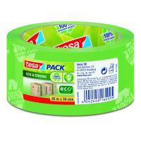 Balicí páska EcoLogo silně lepivá 66 m x 50 mm zelená s potiskem - 6 ks