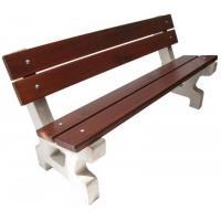 Betonová lavička Klasik s opěradlem