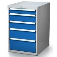 Box na nářadí ALCERA PROFI se zásuvkami / barva zásuvek:tmavě modrá RAL 5010