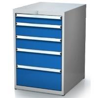 Box na nářadí ALCERA PROFI se zásuvkami / barva zásuvek:zelená RAL 6024
