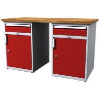 Dílenský stůl pracovní - šířky 1500mm ALCERA PROFI s boxy se zásuvkami