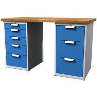 Dílenský stůl pracovní - šířky 1500mm ALCERA UNI se zásuvkami