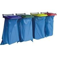 Držák na pytle na odpadky 120l modrý