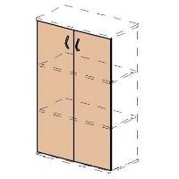 Dveře kancelářské skříně SC43 řady EXPRESS pravé + levé