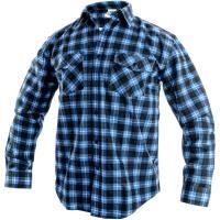 Flanelová košile Canis TOM modro-černá, vel. 43-44