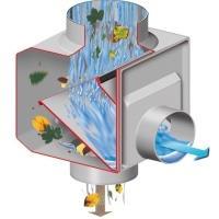 GRAF Sběrač dešťové vody s filtrem hranatý šedý