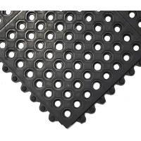 Gumová průmyslová rohož COBA Fatigue-Step černá 0,9 m x 0,9
