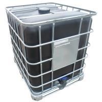 IBC kontejner RECO 1000 l s černou nádobou na kovové paletě