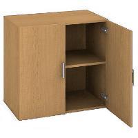 Kancelářská skříň nízká D 2 80 01 - buk