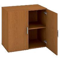 Kancelářská skříň nízká D 2 80 01 - třešeň