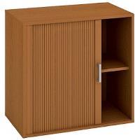 Kancelářská skříň nízká se zámkem DZ 2 80 03 L - třešeň