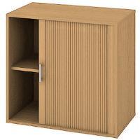 Kancelářská skříň nízká se zámkem DZ 2 80 03 P - buk