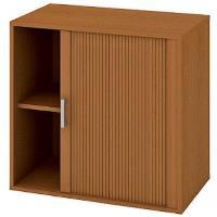 Kancelářská skříň nízká se zámkem DZ 2 80 03 P - třešeň