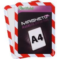 Kapsa Magneto SOLO A4 magnetická TARIFOLD červeno-bílá