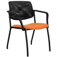 Konferenční židle ALBA WENDY čalouněný sedák, síťovaná opěrka