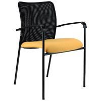 Konferenční židle TRINITY síťovaný opěrák / kostra:černá