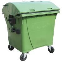 Kontejner 1100l kulaté víko zelený