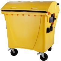 Kontejner 1100l kulaté víko žlutý