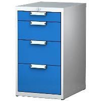 Kontejner na nářadí pod pracovní stůl ALCERA UNI se zásuvkami / barva zásuvek:světle modrá RAL 5012