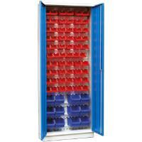 Kovová skříň A90 na plastové zásobníky