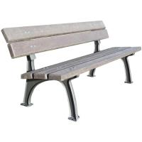 Litinová lavička Park s opěradlem plastové latě