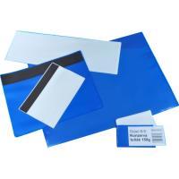 Magnetická kapsa PVC 40 x 80 mm modrá