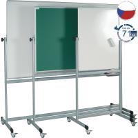 Magnetická tabule pro popis fixem EkoTAB, pojízdná 200 x 100 cm