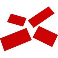 Magnetický štítek 30x80mm, červený