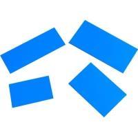 Magnetický štítek 40x60mm, modrý