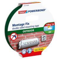 Montážní oboustranná pěnová páska TESA 5 m x 19 mm, zelená
