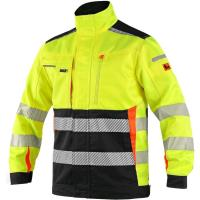 Montérkové kalhoty do pasu CXS ORION TEODOR šedo-oranžové, vel.62