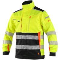 Montérkové kalhoty do pasu ORION TEODOR šedo-oranžové, vel.52