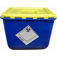 Nádoba na nemocniční odpad Klinik box 30 l - víko s úchopem a otvorem
