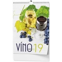 Nástěnný kalendář Víno 2017
