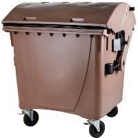 Odpadkový kontejner 1100l hnědý