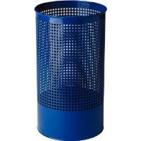 Odpadkový koš kovový modrý děrovaný