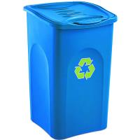 Odpadkový koš na tříděný odpad BEGREEN modrý 50L