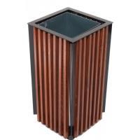 Odpadkový koš venkovní dřevěný s vyjímatelnou vložkou objem 65l