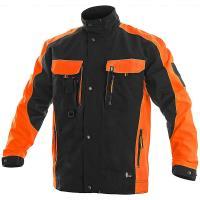 Pánská pracovní blůza CXS SIRIUS BRIGHTON, černo-oranžová, velikost 60