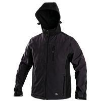 Pánská softshellová bunda Canis FRANCISCO šedo-černá vel. L