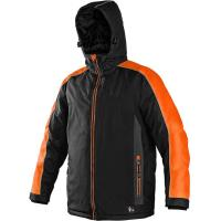 Pánská zimní bunda BRIGHTON, černo-oranžová, velikost XXXL
