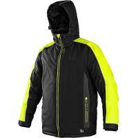 Pánská zimní bunda BRIGHTON, černo-žlutá, velikost XXXL