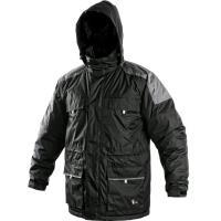 Pánská zimní bunda FREMONT černo-šedá velikost XXXL